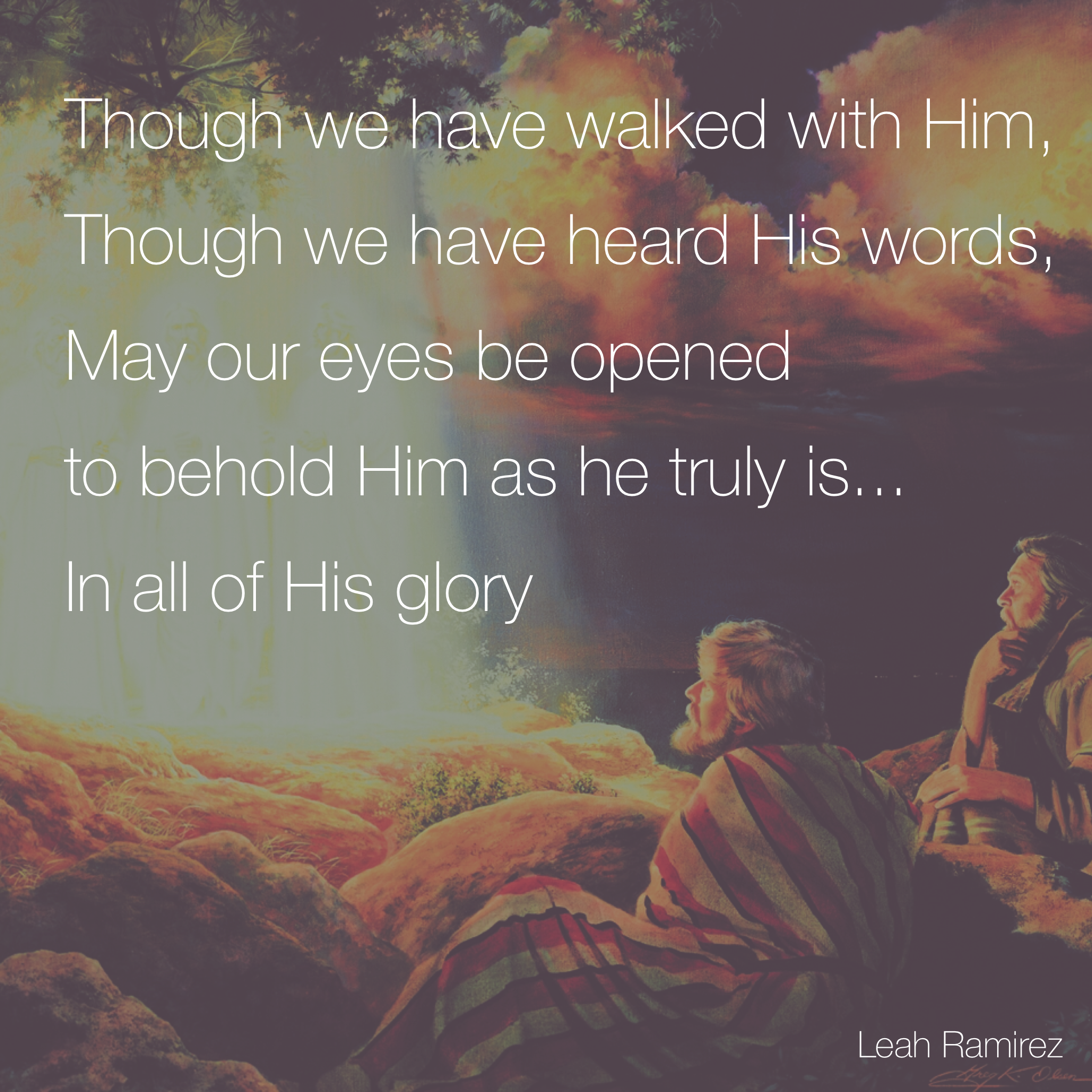 HE WAS TRANSFIGURED BEFORE THEM